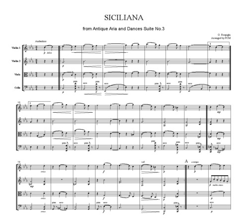 Pay for Respighi Siciliana from Ancient Airs and Dances Suite No.3