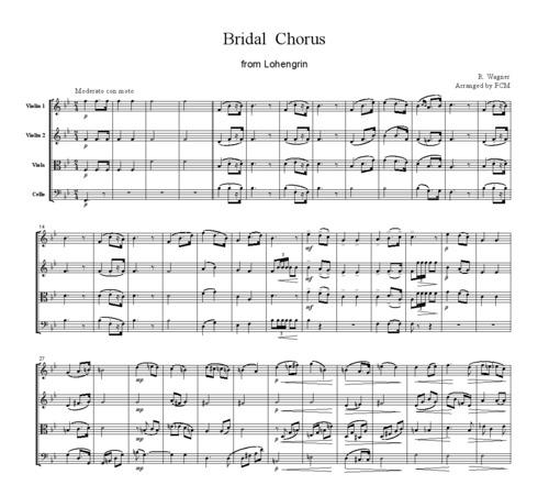 Wagner Bridal Chorus From Lohengrin, CW001