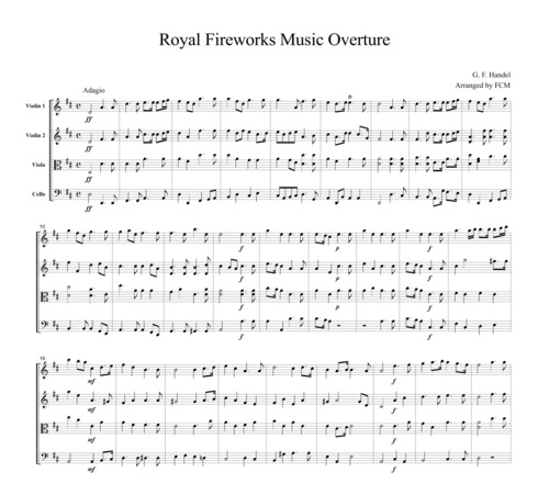 Pay for Handel Royal Fireworks Music Overture, CH111