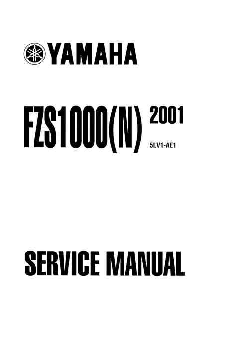Yamaha Fzs Fazer Service Manual