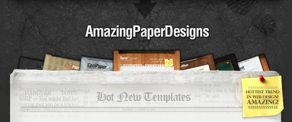 Pay for Premium Minisite Templates - 7 Beautiful Paper Inspired