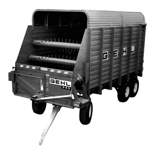Pay for GEHL BU940 Forage Box Parts Manual