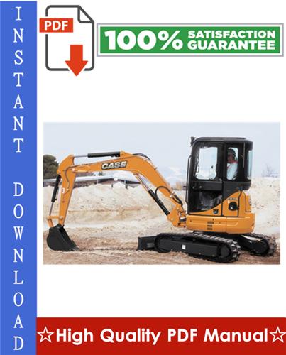 Thumbnail CASE CX31B, CX36B HYDRAULIC EXCAVATOR Workshop Service Repair Manual