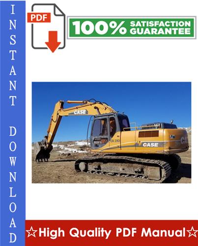 Thumbnail CASE CX210, CX230, CX240 CRAWLER EXCAVATORS Workshop Service Repair Manual