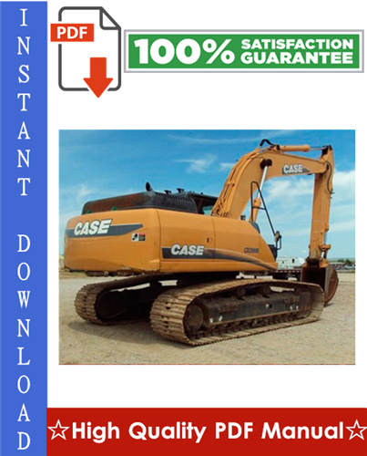 Thumbnail CASE CX290B CRAWLER EXCAVATOR Workshop Service Repair Manual