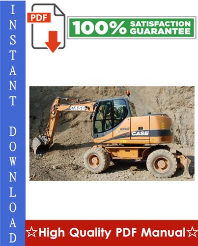 Thumbnail CASE WX145, WX165, WX185 HYDRAULIC EXCAVATOR Workshop Service Repair Manual