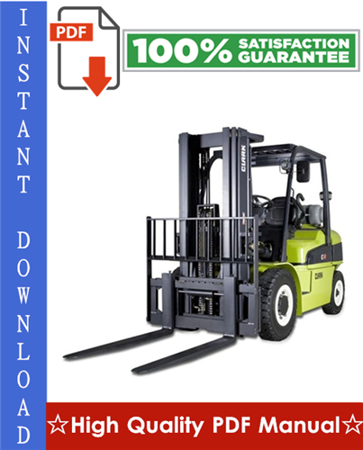 Thumbnail CLARK C40D, C45D, C50sD, C55sD, C40L, C45L, C50sL, C55sL FORKLIFT Workshop Service Repair Manual