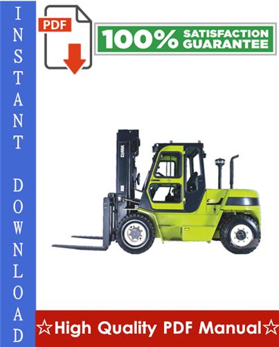 Thumbnail CLARK C60D, C70D, C75D, C80D, C60L, C70L, C75L FORKLIFT Workshop Service Repair Manual