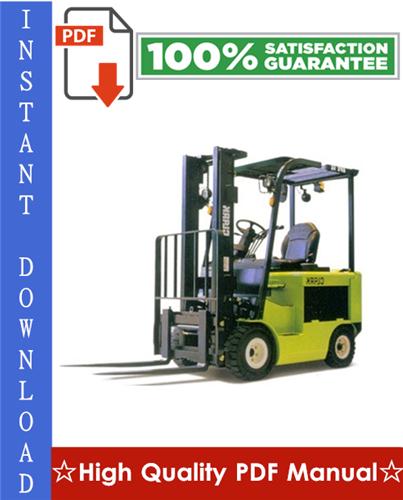 Thumbnail Clark TMG12, TMG13, TMG15s, TMG15, TMG17, TMG18, TMG20, TMG20x, TMG25, EPG 15, EPG 18 Forklift Trucks Workshop Service Repair Manual