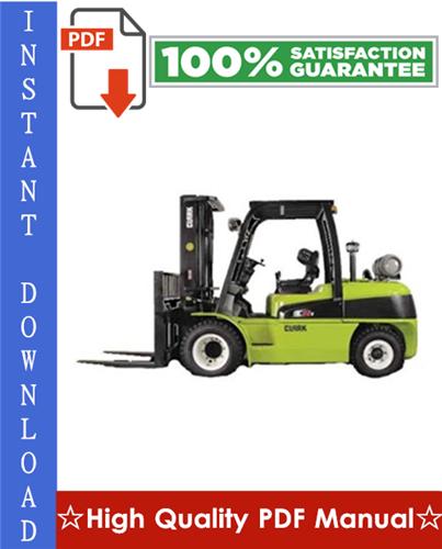 Thumbnail Clark ECG 20, EPG 20, ECG 25, EPG 25, ECG 30, EPG 30, ECG 30x, ECG 32 Forklift Trucks Workshop Service Repair Manual
