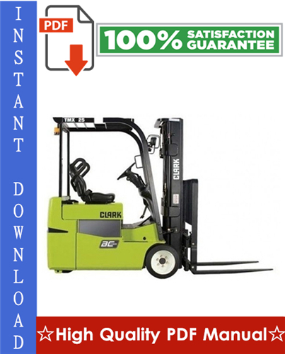 Thumbnail Clark TMX12, TMX13, TMX15s, TMX15, TMX17, TMX18, TMX20, TMX20x, TMX25 Forklift Trucks Workshop Service Repair Manual