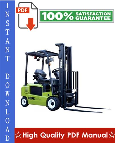 Thumbnail Clark CGC20, CGC25, CGC30, CGP20, CGP25, CGP30, CDP20, CDP25, CDP30 Forklift Trucks Workshop Service Repair Manual