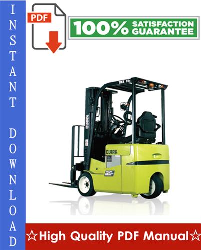 Thumbnail Clark TMX12, TMX13, TMX15S, TMX15, TMX17, TMX18, TMX20, TMX20x, TMX25,EPX16, EPX18 Forklift Trucks Workshop Service Repair Manual