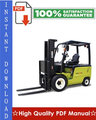 Thumbnail Clark ECX20, EPX20, ECX25, EPX25, ECX30, EPX30, ECX30x, ECX32 Forklift Trucks Workshop Service Repair Manual