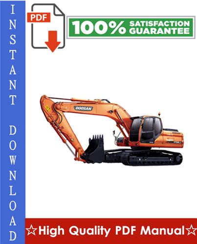 Thumbnail Doosan DX225LCA Crawler Excavator Service Repair Manual + Operation & Maintenance Manual
