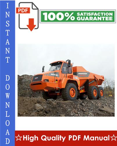 Thumbnail DOOSAN MOXY MT26, MT31 ARTICULATED DUMP TRUCK Workshop Service Repair Manual