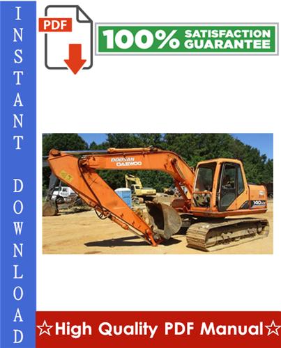 Thumbnail DAEWOO DOOSAN SOLAR 140LC-V CRAWLER EXCAVATOR Workshop Service Repair Manual