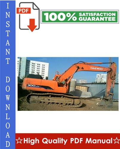 Thumbnail DAEWOO DOOSAN SOLAR 300LC-V TRACK EXCAVATOR Workshop Service Repair Manual