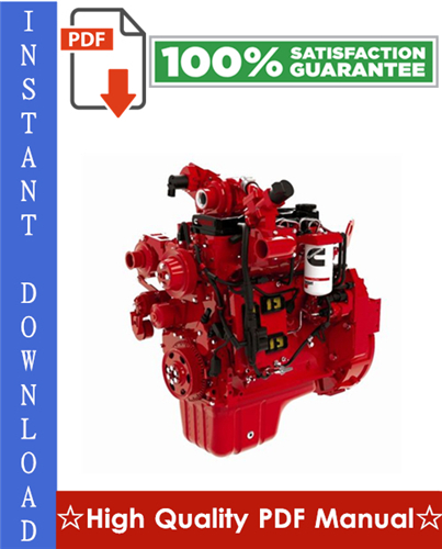 Thumbnail Cummins QSB4.5, QSB6.7 Engine Operation & Maintenance Manual
