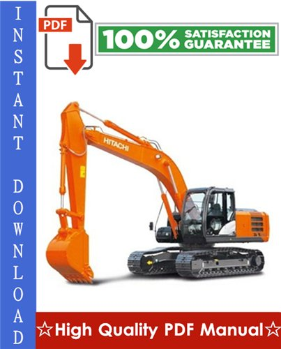 Thumbnail Hitachi ZAXIS200, ZAXIS225USR, ZAXIS225US, ZAXIS230, ZAXIS270 Excavator Workshop Service Repair Manual