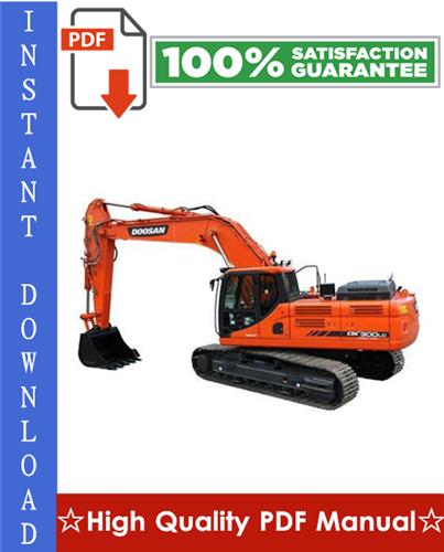 Thumbnail Daewoo Doosan DX300LC Excavator Workshop Service Repair Manual