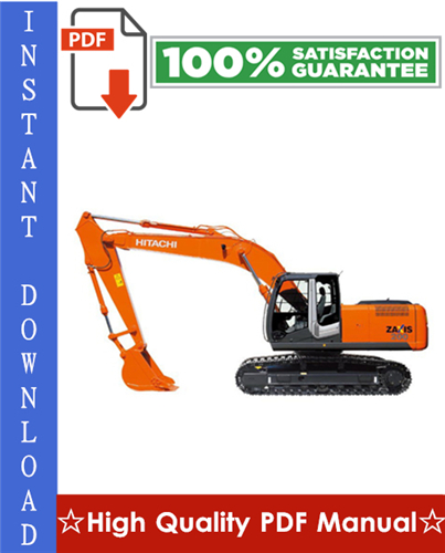 Thumbnail Hitachi Zaxis 200-3 Hydraulic Excavator Workshop Service Repair Manual