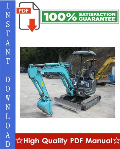 Thumbnail Kobelco SK15SR, SK20SR Hydraulic Excavator Workshop Service Repair Manual