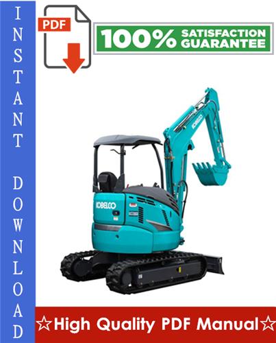 Thumbnail Kobelco SK30SR-2, SK35SR-2 Hydraulic Excavator Workshop Service Repair Manual