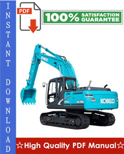 Thumbnail Kobelco SK60-220 Super Mark V Hydraulic Excavator Workshop Service Repair Manual
