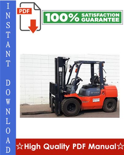 Thumbnail Toyota 7FGU/7FDU35-80 & 7FGCU35-70 Forklift Workshop Service Repair Manual