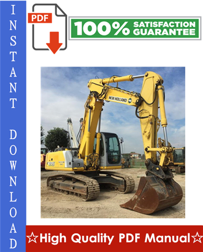 Thumbnail New Holland E215 Crawler Excavator Workshop Service Repair Manual
