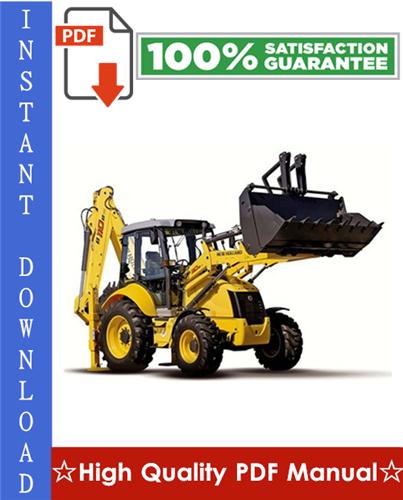 Thumbnail New Holland B110, B115 Backhoe Loader Workshop Service Repair Manual