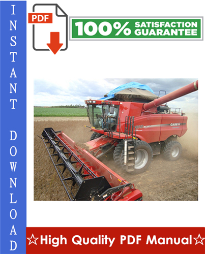 Thumbnail Case IH Axial-Flow Combine Harvester AFX8010 Workshop Service Repair Manual