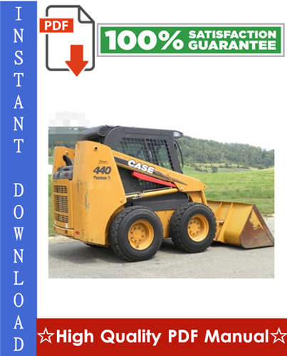 Thumbnail Case 430/440 Skid Steer & 440CT Compact Track Loader Workshop Service Repair Manual