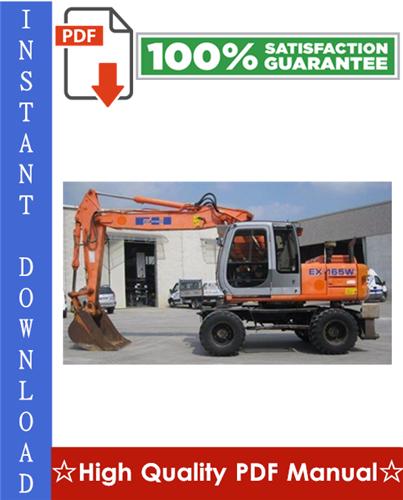 Thumbnail Fiat - Hitachi EX165W Excavator Workshop Service Repair Manual