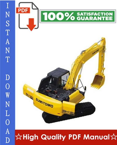 Thumbnail Sumitomo SH160-3 Excavator Workshop Service Repair Manual