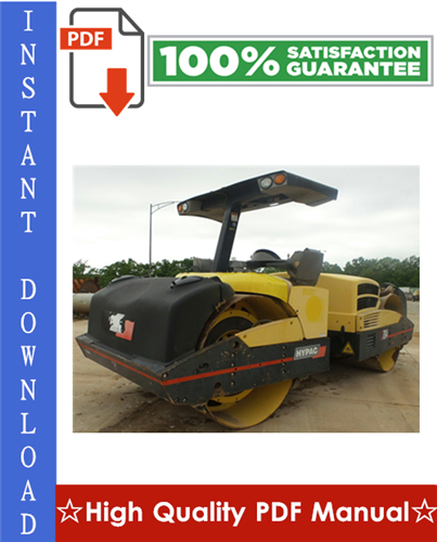 Thumbnail Hypac C784 Vibratory Compactor Workshop Service Repair Manual + Parts Manual + Operation & Maintenance Manual