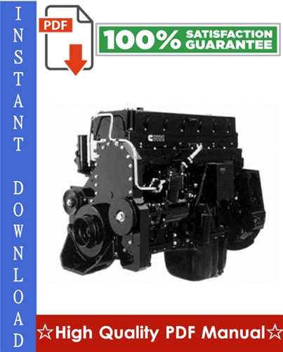Thumbnail CUMMINS M11 SERIES ENGINES SPECIFICATION MANUAL