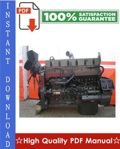 Thumbnail Cummins L10 Series Diesel Engine (External Damper models) Workshop Service Repair Manual