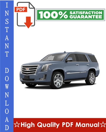 Thumbnail Cadillac Escalade Workshop Service Repair Manual 2007-2009 Download