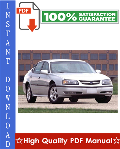 Thumbnail Chevy Chevrolet Impala Workshop Service Repair Manual 2006-2008 Download