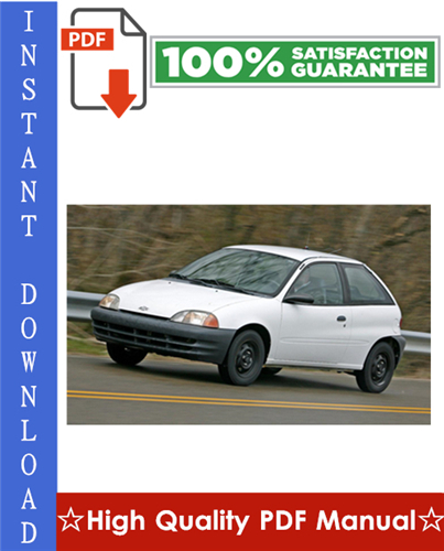 Thumbnail Chevy Chevrolet Metro Workshop Service Repair Manual 1998-2001 Download