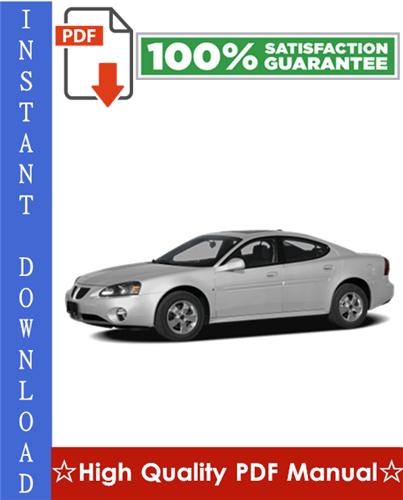 Thumbnail Pontiac Grand Prix Workshop Service Repair Manual 2004-2008 Download