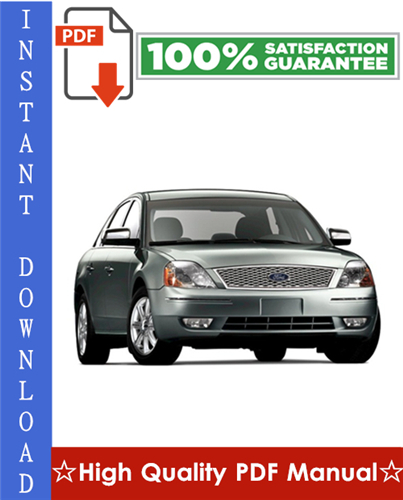 Thumbnail Ford Five Hundred 500 Workshop Service Repair Manual 2005-2007 Download