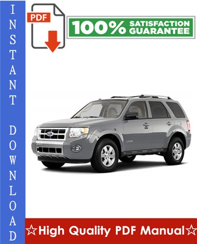 Thumbnail Ford Escape Hybrid Workshop Service Repair Manual 2005-2008 Download