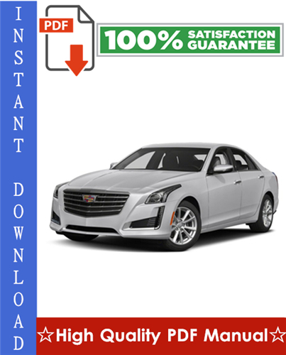 Thumbnail Cadillac CTS / CTS-V Workshop Service Repair Manual 2008-2009 Download