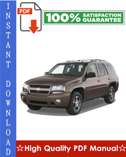 Thumbnail Chevy Chevrolet Trailblazer Workshop Service Repair Manual 2002-2008 Download