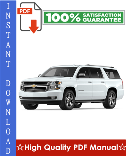 Thumbnail Chevy Chevrolet Suburban Workshop Service Repair Manual 2007-2009 Download