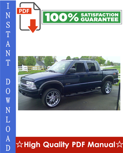 Thumbnail Chevy Chevrolet S10 Workshop Service Repair Manual 1994-2005 Download