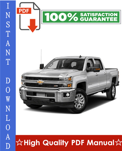 Thumbnail Chevy Chevrolet Silverado 2500 / 3500 Workshop Service Repair Manual 2001-2005 Download